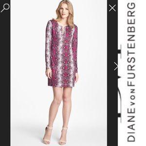 Diane Von Furstenberg snake print jersey dress